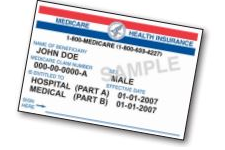 Sample Medicare card